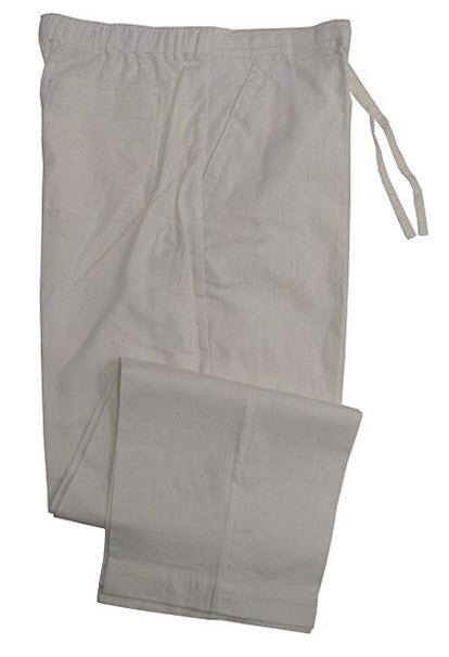 Havanera Mens Relaxed Fit Drawstring Linen Rayon Blend Pants .