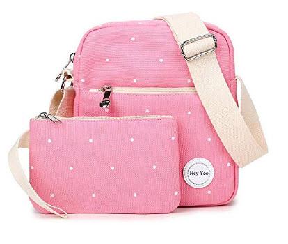 Hey Yoo Fashionable Purse Crossbody Manager Bag Shoulder Bag Sets for Girls & Women, pink