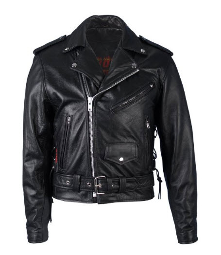 Hot Leathers Classic Motorcycle Jacket with Zip Out Lining (Black, Size 50).