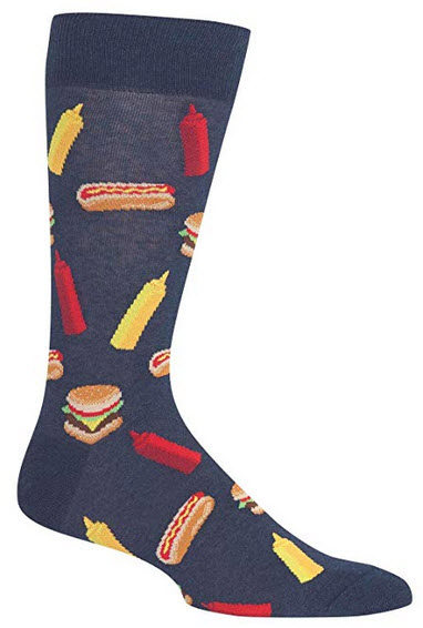 Hot Sox BBQ Food Crew Socks, 1 Pair, Men's 6-12.5