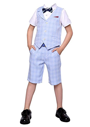 HZMY Boy Summer Leisure Suit 2 Pieces,Vest and Pants