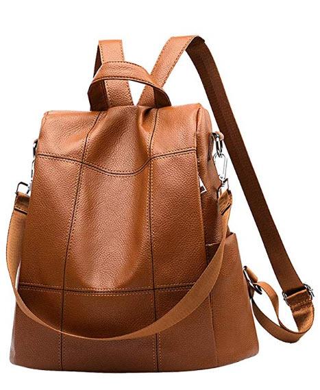 I IHAYNER Women Backpack Purse Waterproof PU Leather Anti-theft Rucksack Fashion School Shoulder Bag