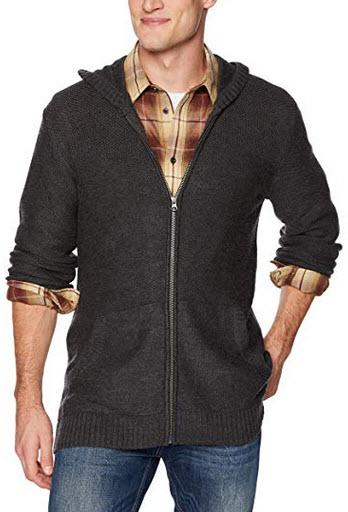 Icebreaker Merino Waypoint Long Sleeve Zip Hooded Sweater, Zealand Merino Wool char heather