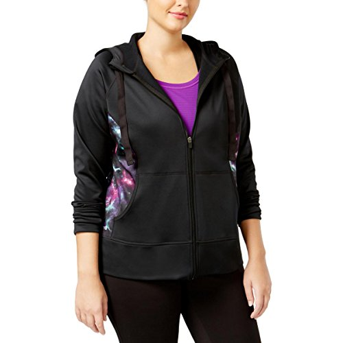 Ideology Womens Plus Fleece-Lined Long Sleeves Hoodie