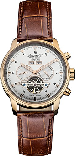 """Ingersoll Men's IN4511RSL """"Okies"""" Stainless Steel Automatic Watch with Brown G ..."""