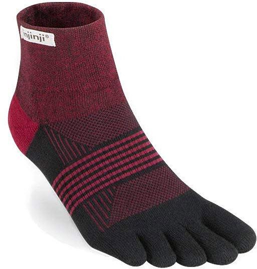Injinji Women's Trail Midweight Mini-Crew Socks, ember