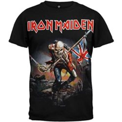 Iron Maiden T-shirt Trooper Tee British Flag by Global