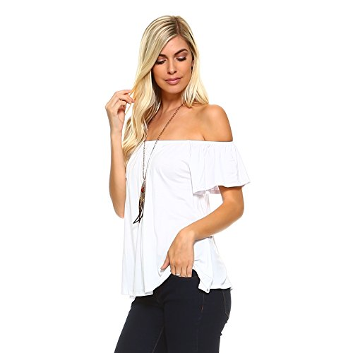 Isaac Liev Bell Sleeve Off The Shoulder Flowy Long Peasant Blouse S-XXXL – Made in USA