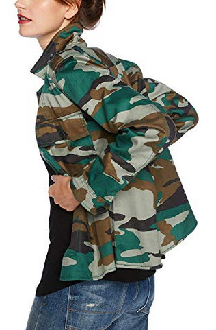 J. Crew Mercantile Womens Shirt Jacket jenna camo dark