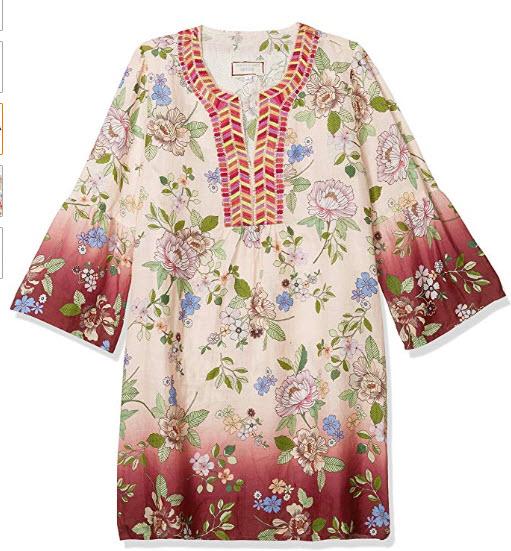 3J WORKSHOP Women's Flare Sleeve Tunic Dress