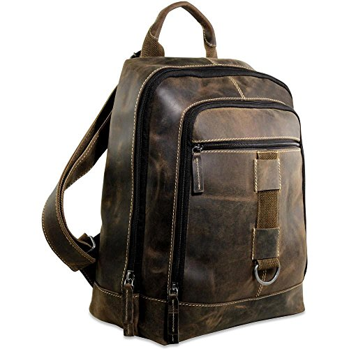 Jack Georges Arizona Leather 15.6″ Laptop Backpack in Brown