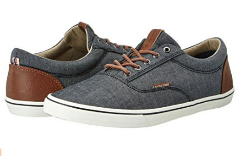 Jack & Jones Men's Jfwvision Chambray Mix Anthracite Low-Top Sneakers grey