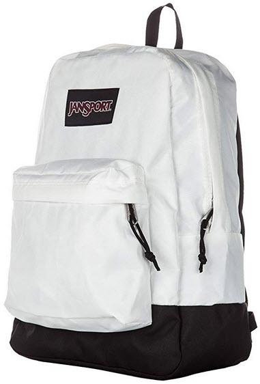 JanSport Black Label Superbreak Backpack – Classic, Ultralight white