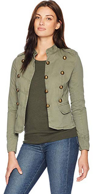 Jason Maxwell Womens Outerwear Military Anorak Jacket olive