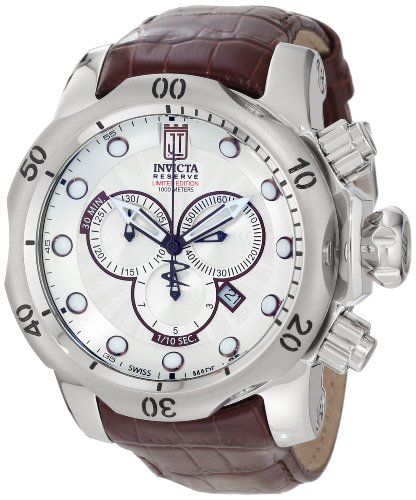 "Jason Taylor for Invicta Collection 12960 ""Reserve"" Stainless Steel Watch with Leath ..."