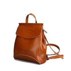 JeHouze Fashion Women Anti-Theft Shoulder Handbag Genuine Leather Backpack