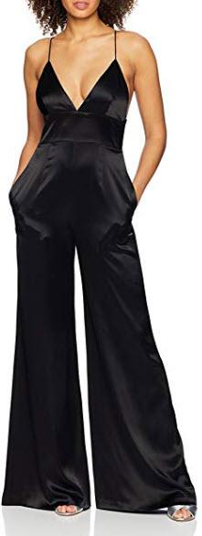 Jill Jill Stuart Women's Satin Jumpsuit, black