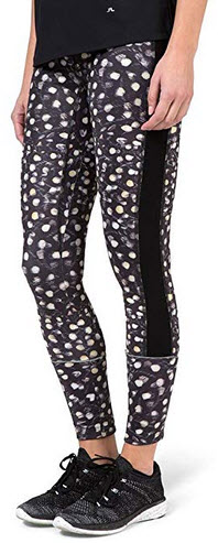 J.Lindeberg Gabriella Compression Poly Golf Leggings black pattern