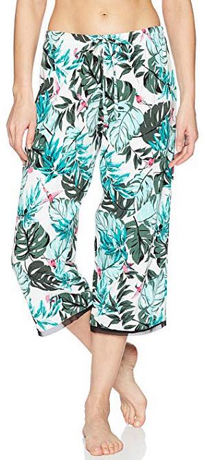 Jockey Women's Printed Cropped Sleep Pant, tropical bird
