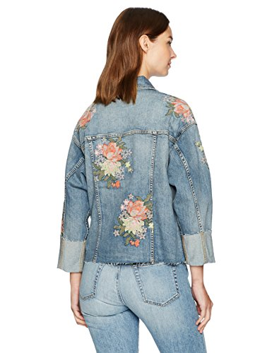 Joe's Jeans Women's Belize Embroidered Cuffed Denim Jacket in Sasha