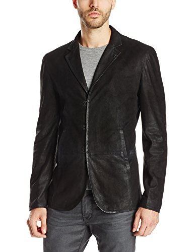 John Varvatos Collection Men's Slim-Fit Leather Blazer Jacket