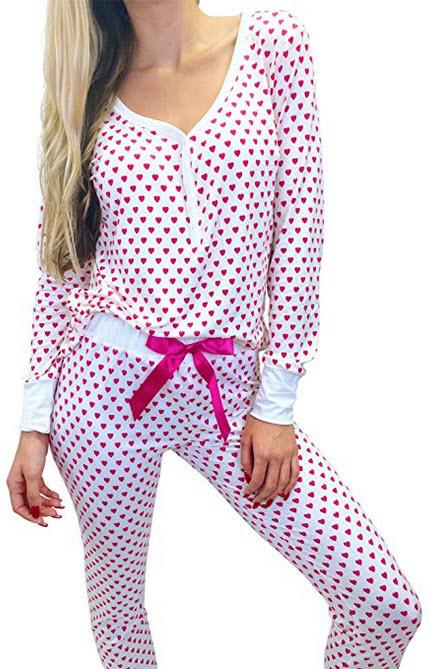 Jordann Jammies Pink Heart Pajama Set