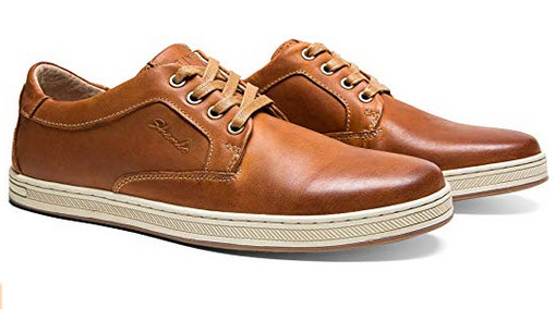 JOUSEN Men's Casual Shoes Business Oxford Leather Fashion Sneaker brown