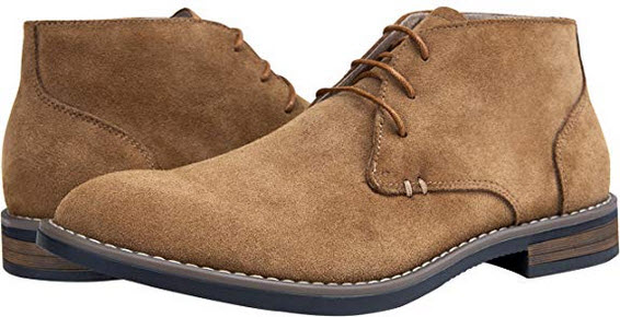 JOUSEN Men's Chukka Boot Suede Leather Ankle Desert Boots brown