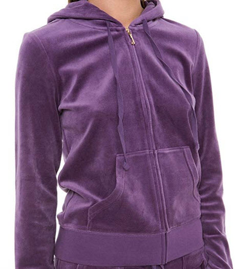 Juicy Couture Black Label Womens Velour Robertson Hoodie Jacket