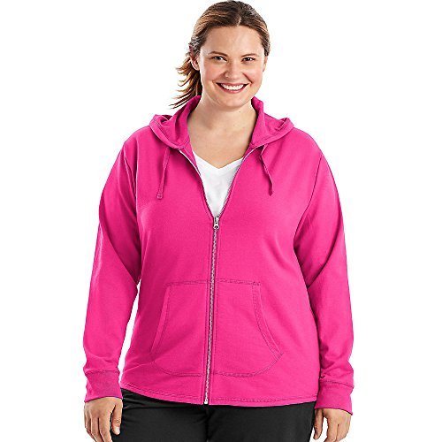 Just My Size Womens French Terry Full-Zip Hoodie (OJ243)