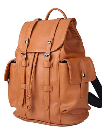 Kah&Kee PU Leather Backpack Purse Satchel School Bags Casual Fashion Travel for Women