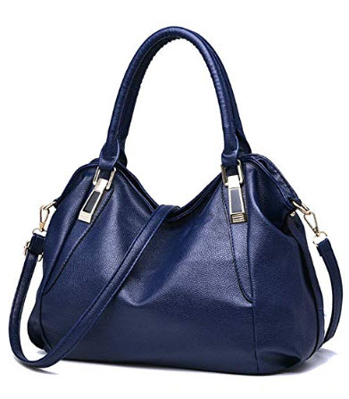 KAMANDUO Women Handle Satchel Handbags Shoulder Bag Tote PU Leather Handbags