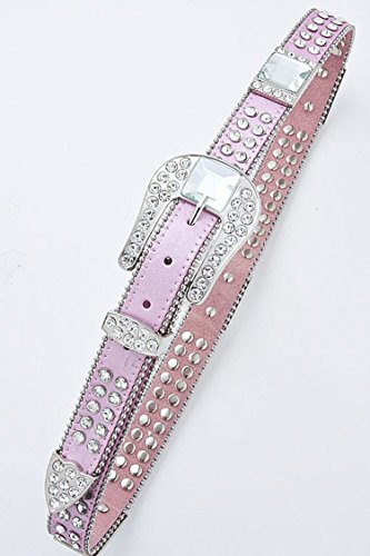 KARMAS CANVAS RHINESTONE STUDDED BELT