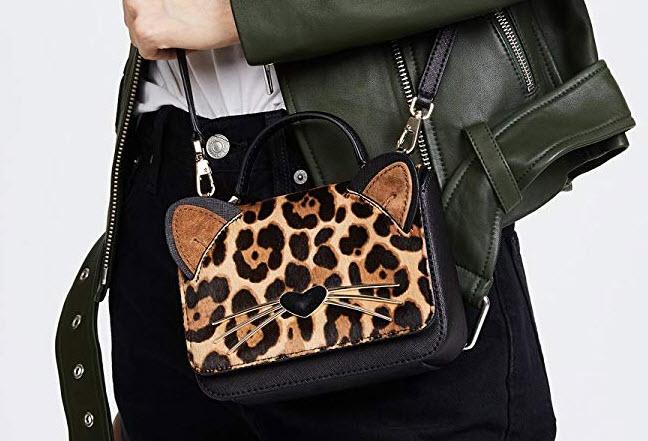 Kate Spade New York Women's Leopard Mini Janine Cross Body Bag