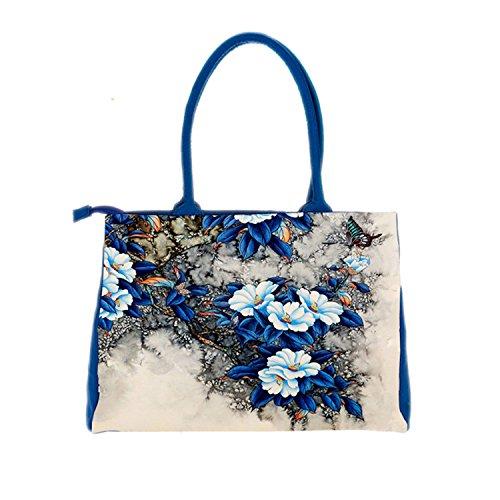 KDHJJOLY Practical bags handbags women famous brands Digital Printing beautiful floral canvas sh ...