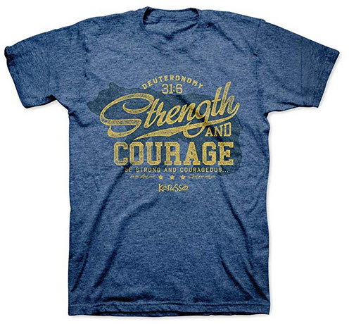 Kerusso Strength Bear T-Shirt – Christian Fashion Gifts Royal Blue
