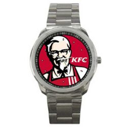 KFC Kentucky Fried Chicken Colonel Sanders Logo Sport Metal Watch
