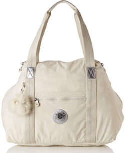 Kipling ART M Canvas & Beach Tote Bag, 58 cm, 26 liters, White (Dazz White)
