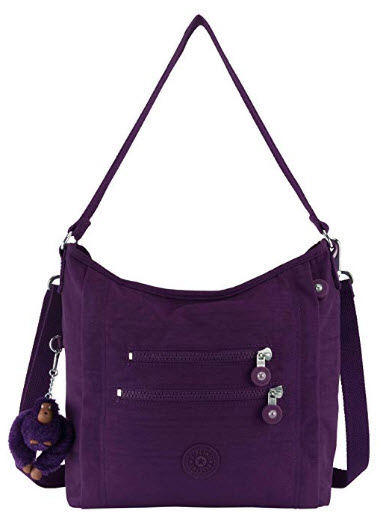 Kipling Bellamie Solid Handbag, Deep Purple