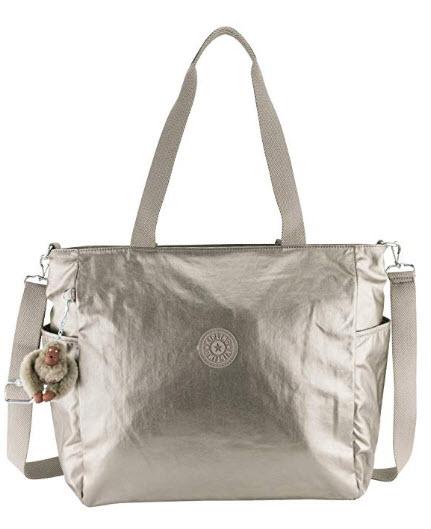 Kipling Lindsay Tote Bag, Metallic Pewter