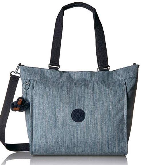 Kipling New Shopper Medium Solid Tote, indigo blue
