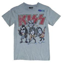 Kiss Big Head Band Gray Graphic T-Shirt by Fashion