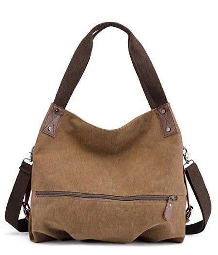 KISS GOLD(TM) Women's Casual Canvas Bag Hobo Tote Crossbody Shoulder Bag