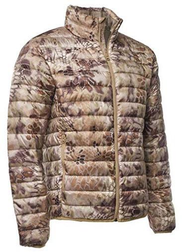 Kryptek Cirius Down Camo Hunting Jacket (Insulation Collection), highlander