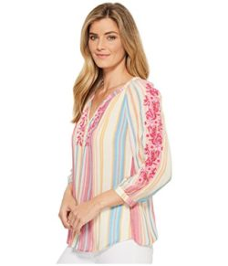 KUT from the Kloth Womens Iona Embroidered Peasant Top
