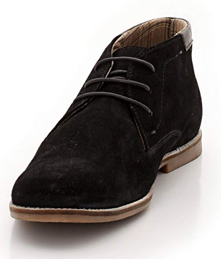 La Redoute Collections Mens Suede Ankle Boots Black Size 40