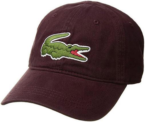 Lacoste Men's Gabardine Cap with Large Crocodile vertigo