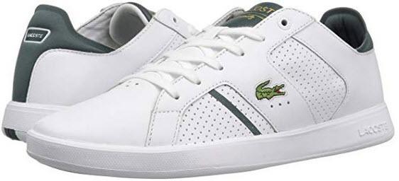 Lacoste Men's Novas CT Sneakers white dark green leather