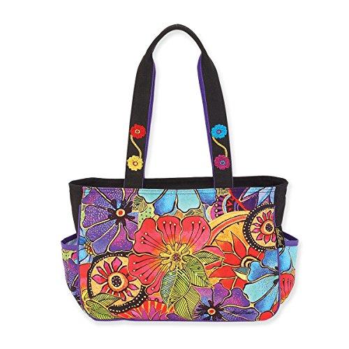 Laurel Burch Floral Flora Medium Tote Handbag Purse