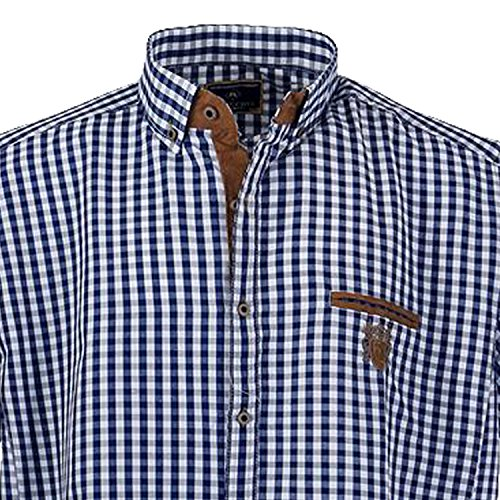 Lavecchia Men's Checkered Classic Short Sleeve Casual Shirt